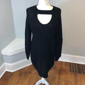 Nobo Cable Knit Necklace Collar Sweater Dress XL